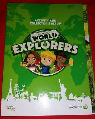 """Woolworths """"World Explorers"""" Activity & Collector's Album - Album ONLY - NEW"""