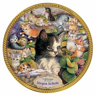 Jürgen Scholz Cat Art Commemorative Plate