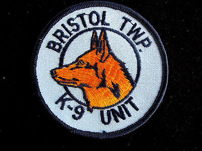 Police, USA, Pennsylvania, K-9, Bristol, Patch, Uniform, Abzeichen,