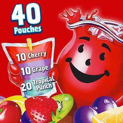 Kool Aid Jammers Variety Pack Great For Lunchboxes (Two-40 Pouches Per Order)