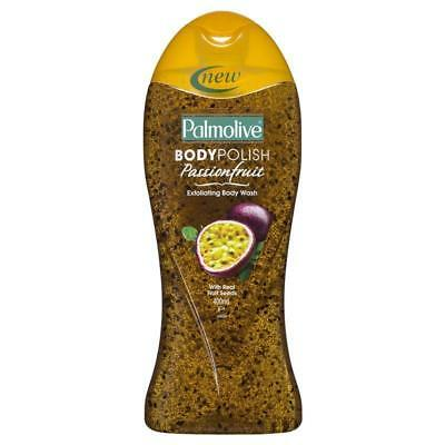 Palmolive Body Polish Exfoliating Body Wash 400Ml Passionfruit Real Fruit Seeds