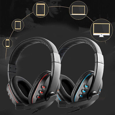 Wired Gaming Headset Stereo Headphone With Mic For PC Computer Gamer Casque
