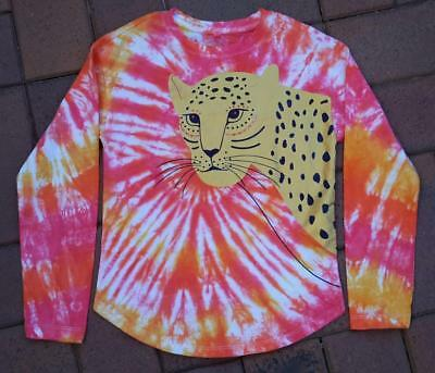 Hand Dyed Size 7 Girls Long Sleeved T Shirt- New