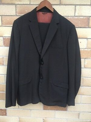Vintage 1960's Men's Suit with Stunning Lining Medium Size.