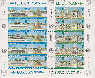 Isle Of Man Mnh Stamp Set Full Sheets 1987 Europa Cept Architecture Sg 344-347