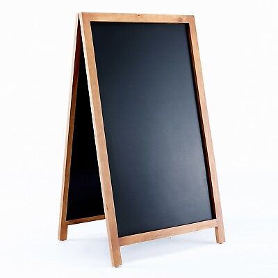 Vintage Wooden Magnetic A Frame Chalkboard Sign for Sidewalk, Restaurant, Cafe,