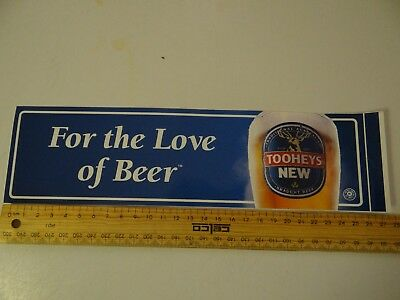 """1 X Tooheys New """"for The Love Of Beer"""" Collectable Sticker"""