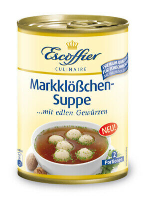 Escoffier Markklößchensuppe Suppen 390ml 4058700730532