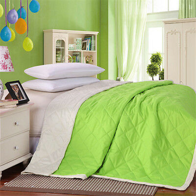 Polyester Thin Summer Duvet / Quilt Bedding -Beige Green All Sizes Available 1Pc