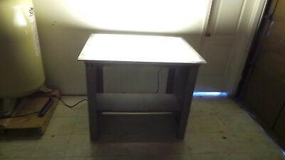 NuArc Fluorescent Light Table Architect Art Drafting Vinyl Graphics Photographer