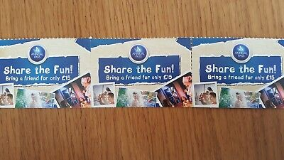 3 Share the Fun vouchers for Merlin theme parks