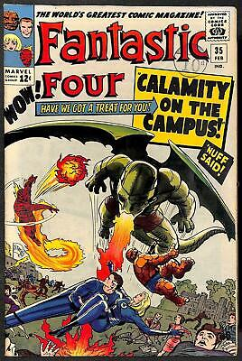 Fantastic Four #35 1st App of Dragon Man FN+