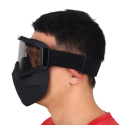 Motorcycle Scooter Face Dustproof Mask Detachable Goggles Mouth Filter