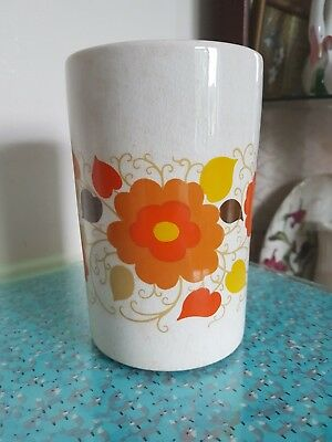 Crown Devon Mary Quant Jar/Vase Retro Daisy Flower Power 1960s Mid-century