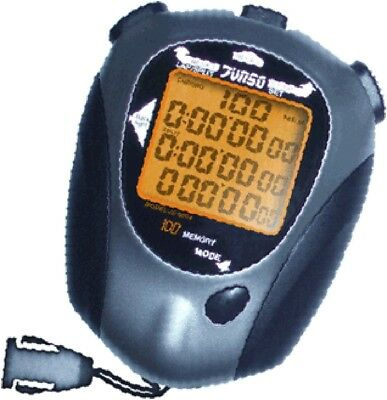 JS9004 Stopwatch LCD Professional Handheld Sport Stop Watch Timer Alarm Counter