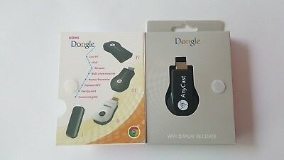 AnyCast HDMI Dongle WIFI Display Receiver TV AirPlay Miracast Stick OVP