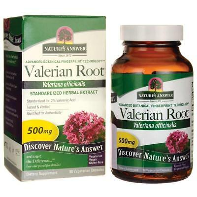 Valerian Root 500 mg x 90 Veggie Capsules Nature's Answer - 24HR DISPATCH