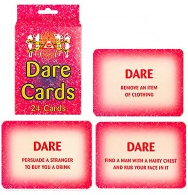 Hen Party Accessories Dare Cards Adults  Accessory Practical Jokes