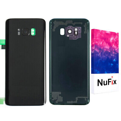 Samsung Galaxy S8 Rear Back Glass Panel Replacement - Black with lens G950W