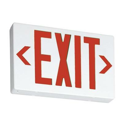 Lithonia Lighting Thermoplastic White LED Emergency Exit Sign  EXR LED M6