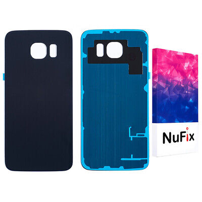Samsung Galaxy S6 Rear Back Glass Battery Panel Replacement Black Blue G920w8