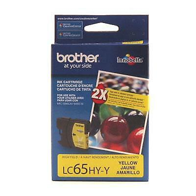 Brother LC65HYY 750 Pages High-Yield Yellow Ink Cartridge