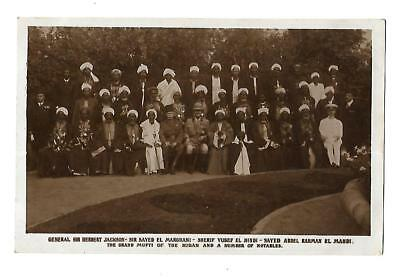 Old Vtg B&W RP Postcard Grand Mufti of Sudan & Notables General Jackson Africa