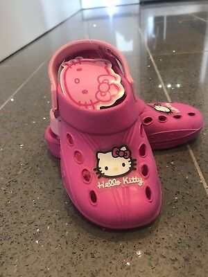Claire's Hello Kitty Clogs Beach Sandals Crocs Girls Sizes 10-2 uk sizes pink