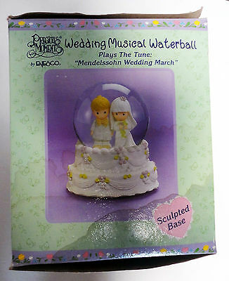 Precious Moments Wedding Musical Waterball Mendelssohn March - new