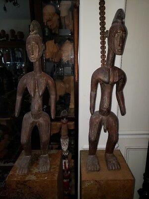 Unique and Rare Igala Pair of Statues