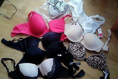 JOBLOT 8 MIXED SIZEBRANDS NEWUSED BRAS see details pics resell etc