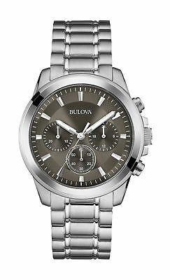 Bulova 96A180 Silver Dial Stainless Steel Chronograph Men's Watch