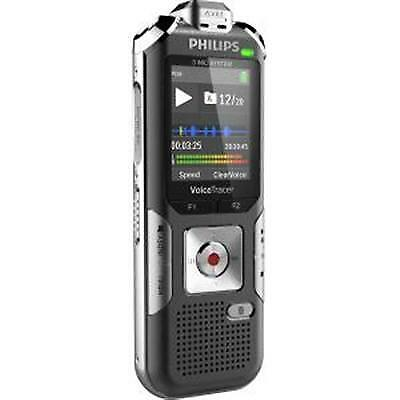 Philips Voice Tracer 6010 Digital Recorder, 8 GB, Gray/Silver
