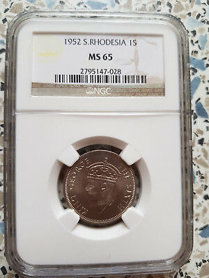 South Rhodesian One Shilling 1952 MS65