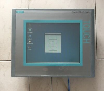 "Siemens 6AV6 643-0CD01-1AX1 MP277 10"" Touch Panel Set, inkl. MMC und Haltewinkel"