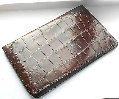 ANTIQUE CROCODILE LEATHER WALLET c.1920
