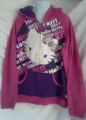 Used. Hello kitty hoodie size 14-16 XL pink and purple