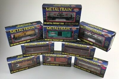Lot Of 9 Model Power Metal Train HO Scale Cars In Original Boxes