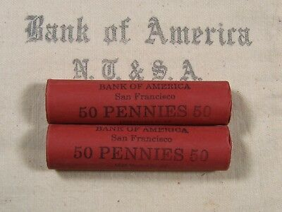 (ONE) BoA SF Lincoln Wheat Cent Penny Roll Lot Old US Coins 1909-1958 P D S (78)