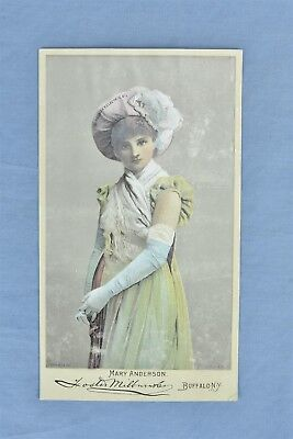Antique ADVERTISING VICTORIAN TRADE CARD DR THOMAS ECLECTRIC OIL MARY ANDERSON