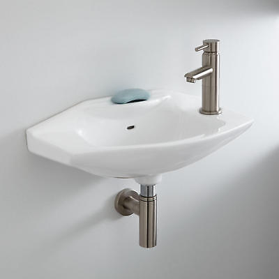 Barclay Vitreous China 18 Wall Mount Bathroom Sink With Overflow