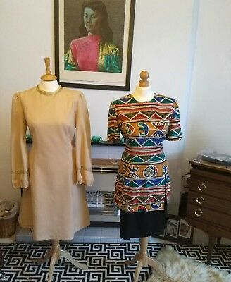 Job lot of 6 beautiful vintage dresses from 60s/70s/80s/90s
