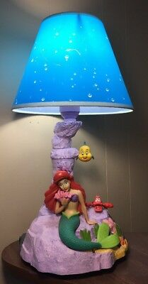 Rare Disney Collectible Vintage The Little Mermaid Animation Animated Lamp WORKS