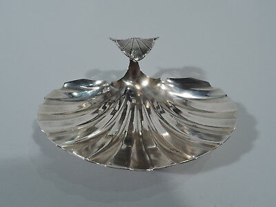 Gorham Bowl - 65 - Antique Scallop Shell Dish - American Sterling Silver - 1869
