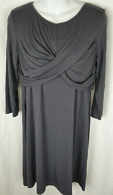 Belly mom's dress maternity stretchy nursing friendly large gray