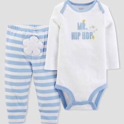 Newborn Just One You Carter's Mr. Hip Hop Easter Bunny Outfit 2-Piece Set