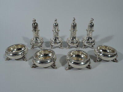 Tuttle Salts & Peppers - 55 - Antique Neoclassical - American Sterling Silver