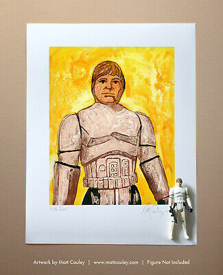 LUKE STORMTROOPER Vintage Kenner Star Wars Action Figure ORIGINAL ART PRINT 3.75