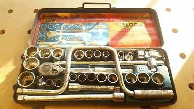 Elora Master Combined Socket Set Chrome Van Whit&Af 1/2 Square Drive 22 Sockets