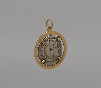 Authentic Alexander the Great Silver Drachm Coin Pendant
